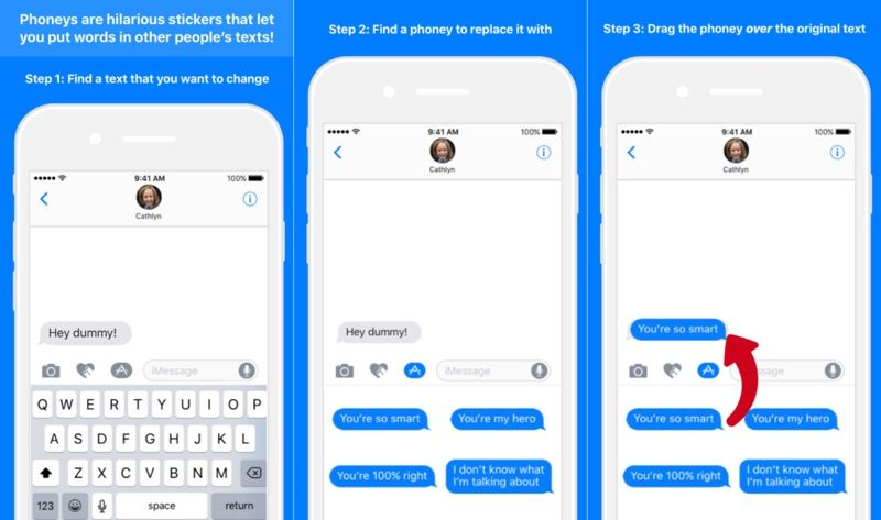 Sticker App \u0027Phoneys\u0027 Nixed by Apple for Mimicking Messages Chat