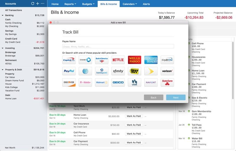 Quicken 2018 for Mac Launches With Online Bill Management, New