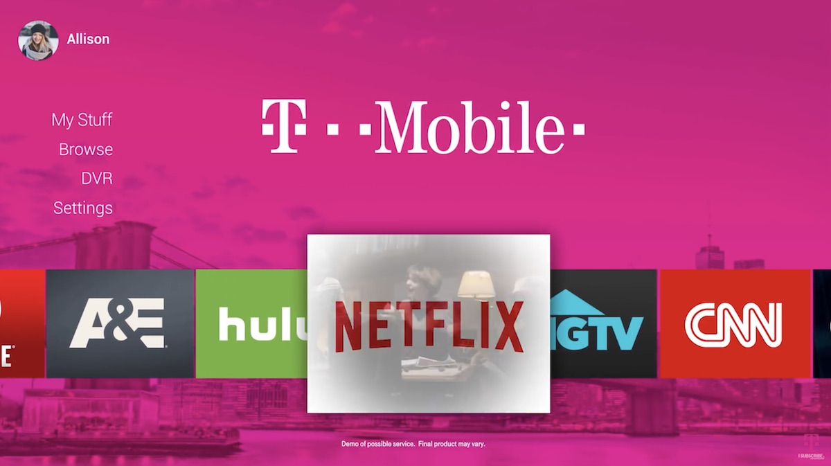 Pink Tv Online T Mobile Announces Internet Tv Service Coming In 2018 Macrumors