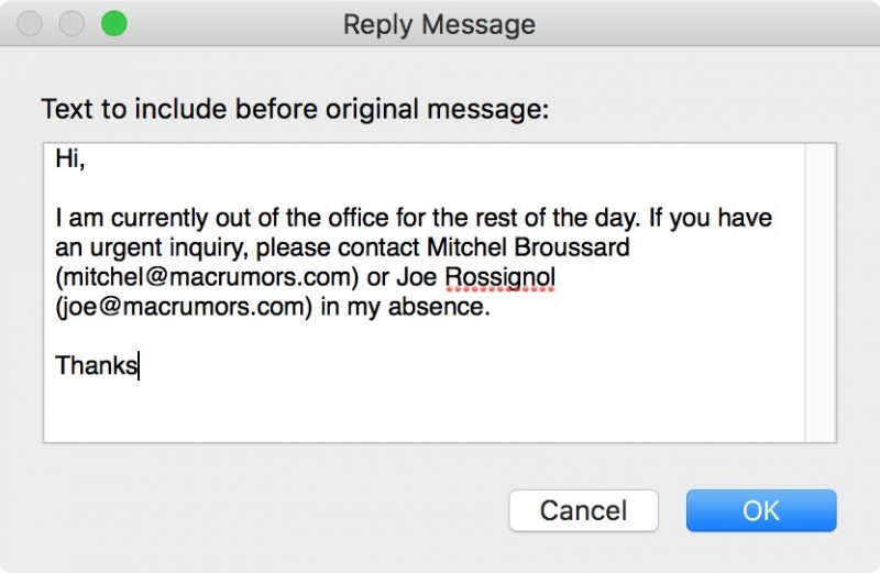 How to Set Up Out-of-Office Replies in Apple Mail and iCloud Mail