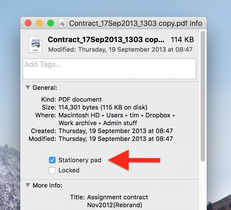 How to Create File Templates on Your Mac With Finder\u0027s Stationery