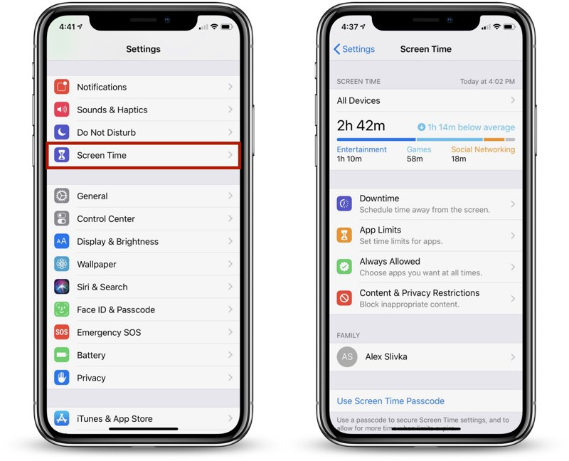 Einrichten Iphone 7 How To Use Screen Time In Ios 12 Macrumors