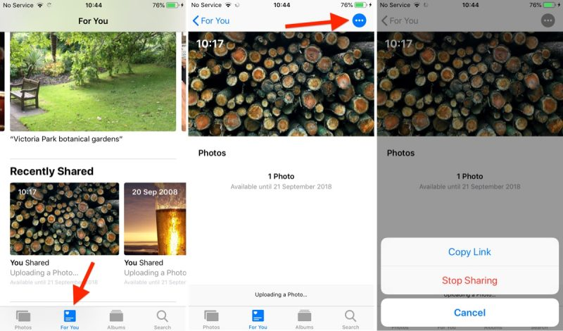 How to Share an iCloud Photo Link in iOS 12 - MacRumors