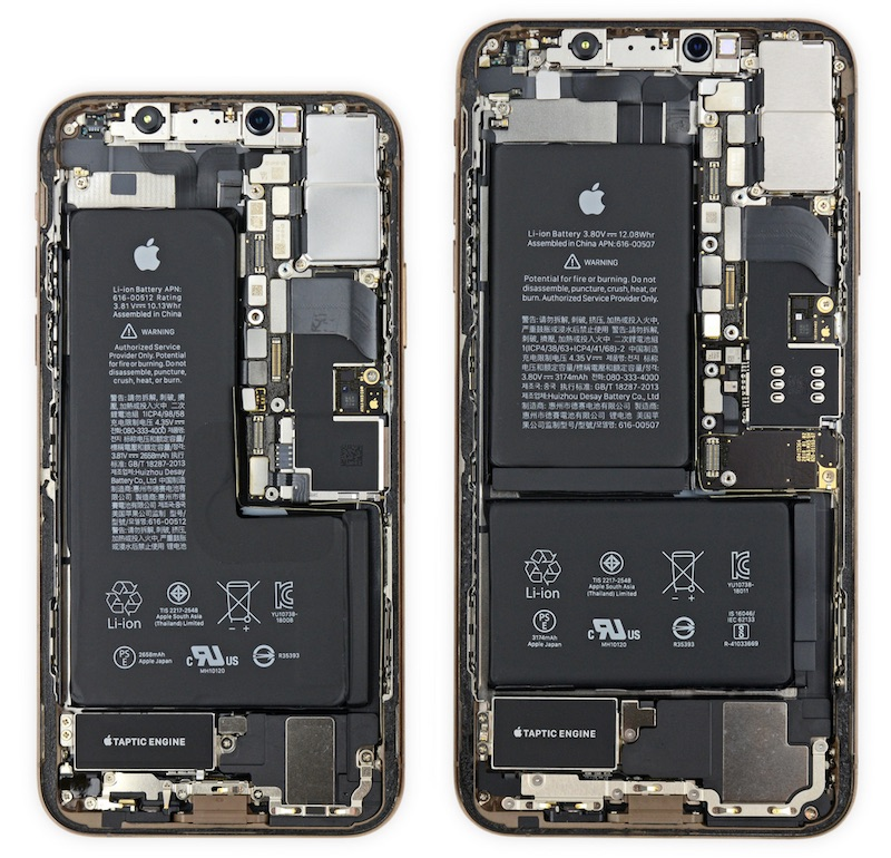 iFixit: iPhone XS Has 'Notched' Battery and iPhone XS Max Has Apple-Designed Power Management ...