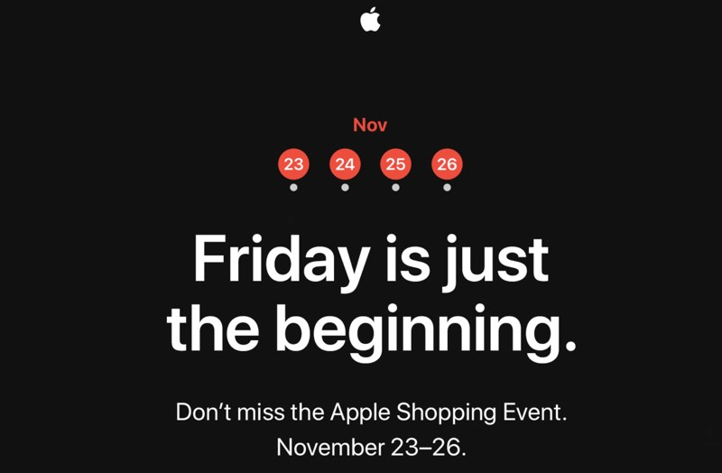 Black Frida Apple To Hold Four Day Shopping Event Starting On Black Friday