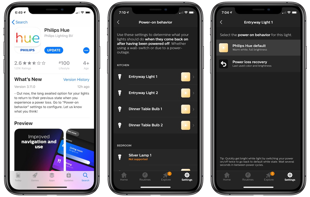Hue Philips App Philips Hue Bulbs Can Now Remain Off Following A Power Outage