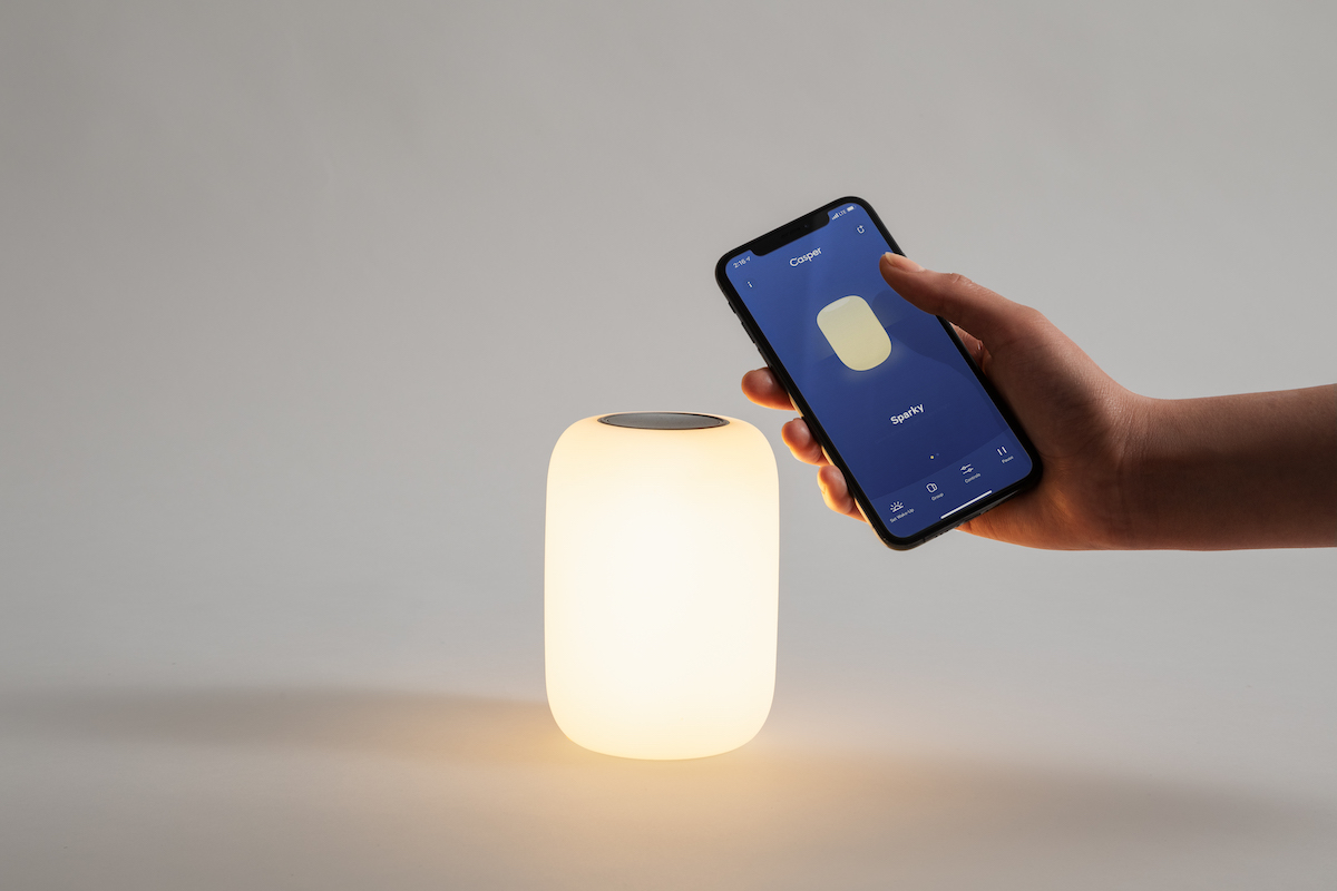 The Mattress Company Mattress Company Casper Debuts Ios Connected Glow Bedside Lamp