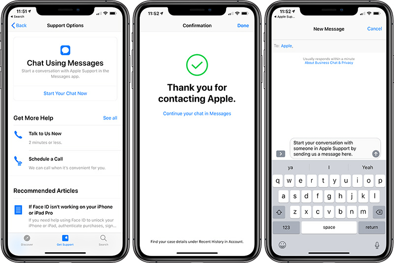 Apple Id Zonder Creditcard Apple Support App Now Lets You Chat With An Expert In Messages