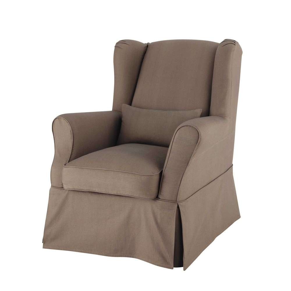 Coussin Fauteuil Taupe