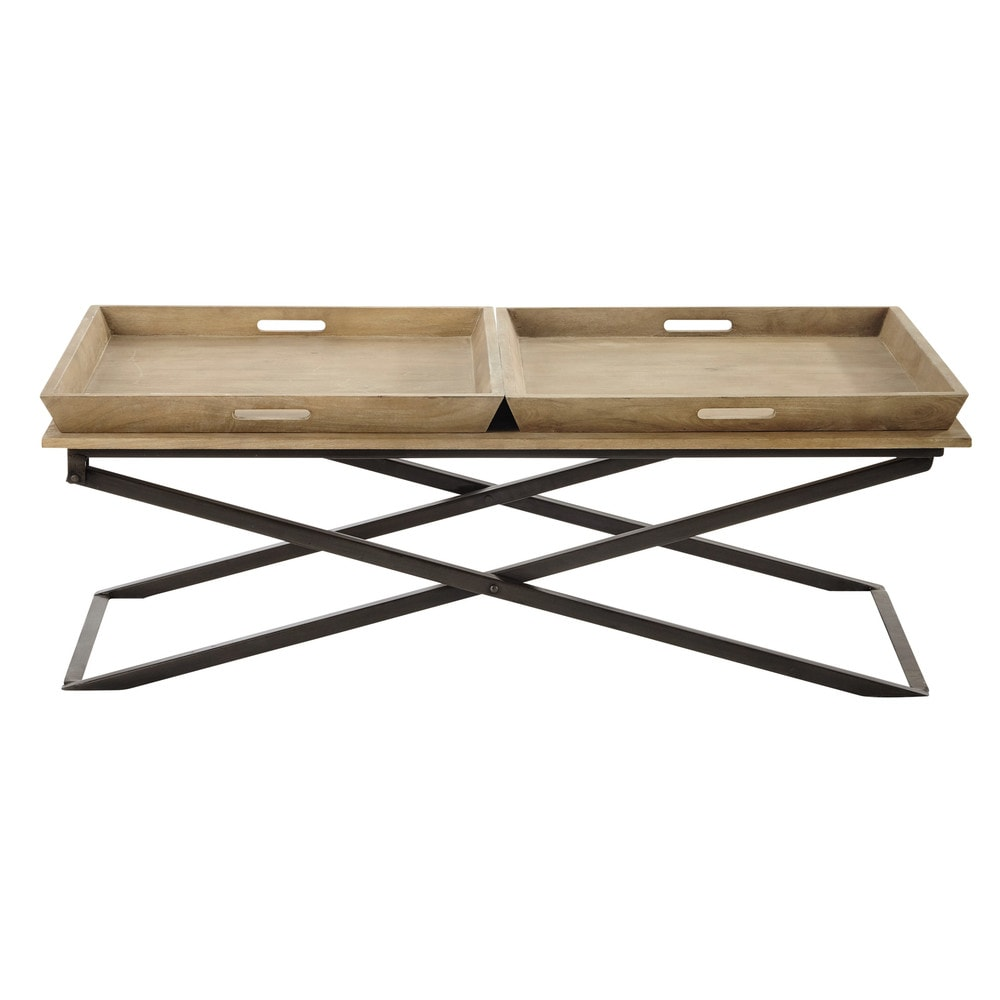 Maison Du Monde Couchtisch Mango Wood And Metal Coffee Table W 120cm Hippolyte 402 50 Port