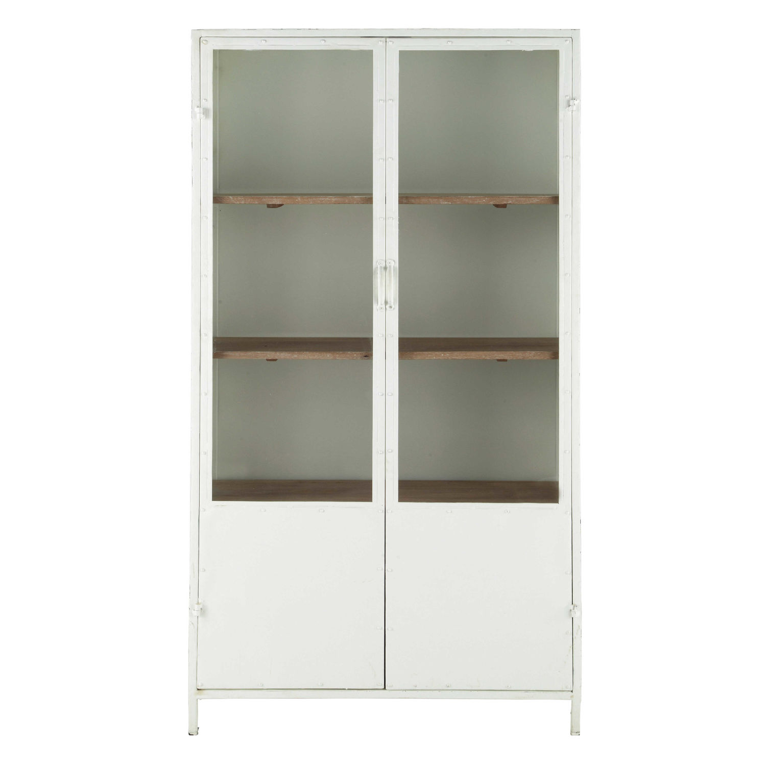 Metal Display Case In White W 100cm Maisons Du Monde - Metalen Vitrinekast
