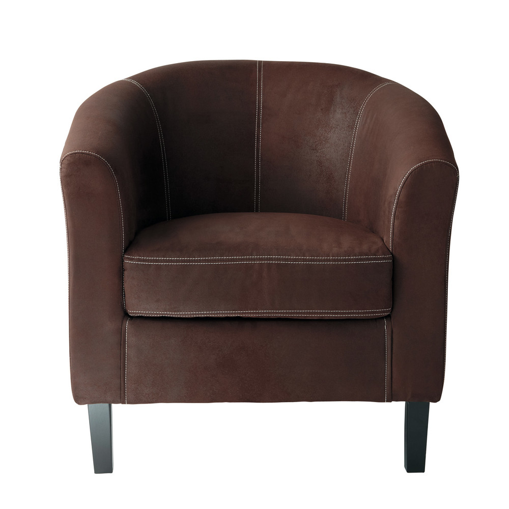 Sessel Maison Du Monde Microsuede Clubsessel Braun Baltimore