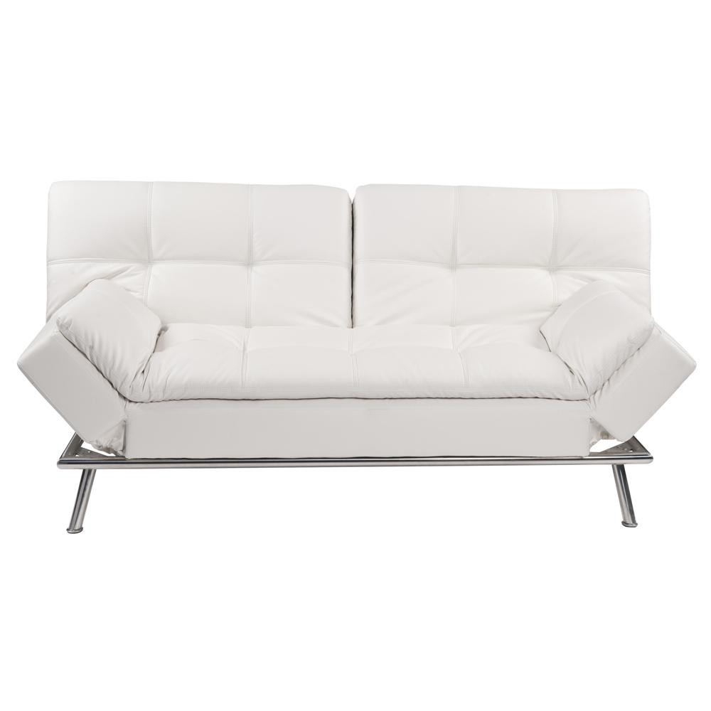 Maison Du Monde Schlafsofa White 3 Seater Tufted Clic Clac Sofa Bed Denver Female First
