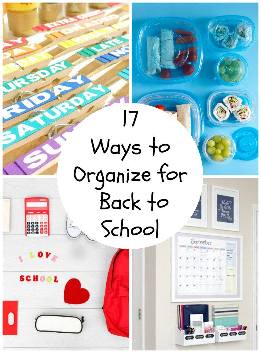 School Organization Tips 17 Back To School Organization Tips | Make And Takes