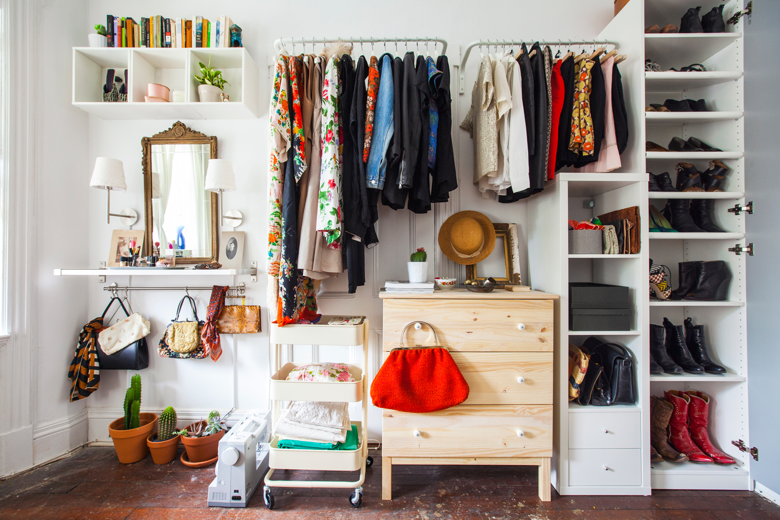 Bedroom Clothes Storage No Closets? No Problem. Here's How To Live Without Them