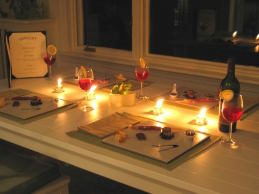 Image result for candlelit meal