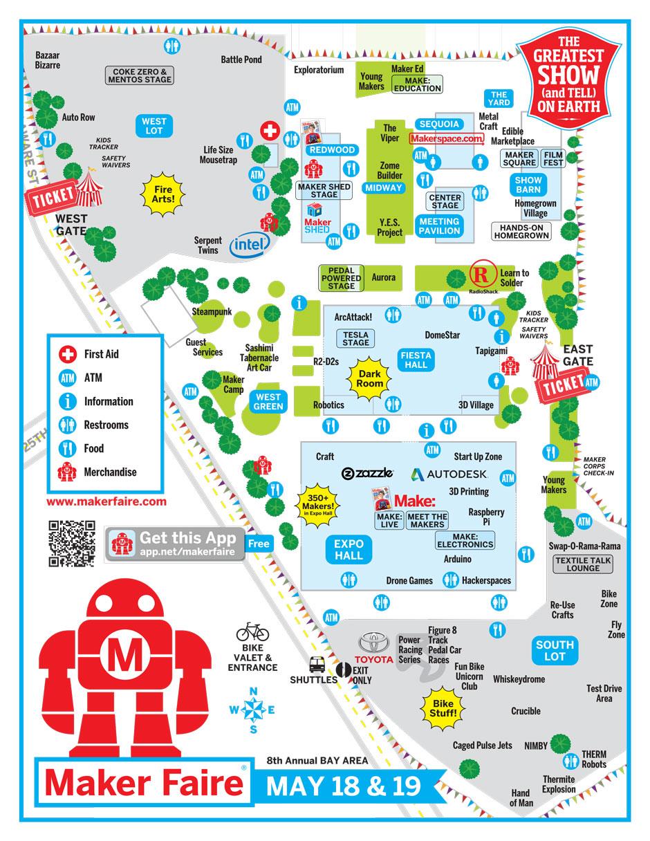 World Maker Faire New York 2013 Map