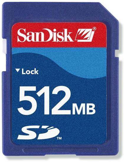 Images Big Sandisk Sd Card 512Mb