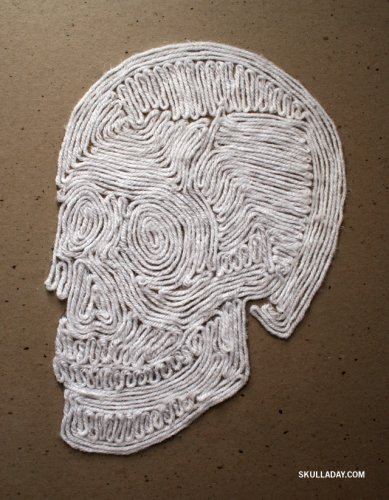 yarn painted skull