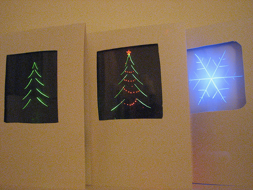 edge-lit holiday cards