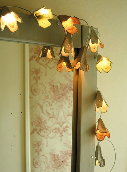 egg carton fairy lights