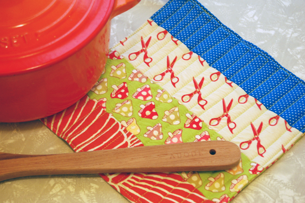 How To Simple Quilted Potholder Make