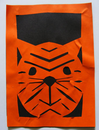 Tiger Paper Cut Craft
