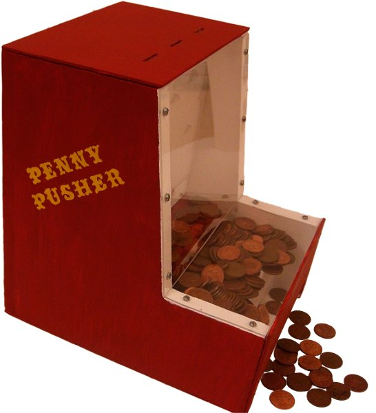 Diy penny pusher taunts you into giving up your coin make for Create your own penny