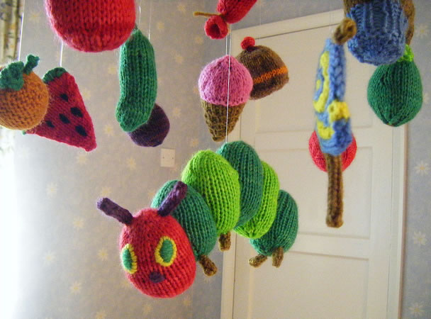 Knit Very Hungry Caterpillar Mobile Make: