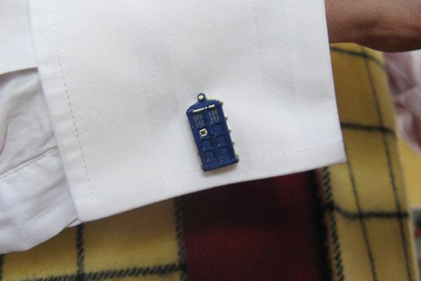 Simon Jansen's TARDIS cufflinks