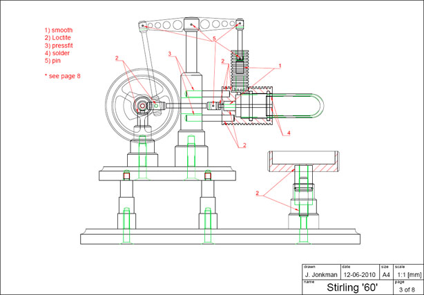 Free download gamma stirling engine plans make for Stirling engine plans design blueprints