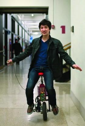 riding unicycle