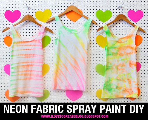 with this neon fabric spray paint shirt tutorial from ilovetocreate. Black Bedroom Furniture Sets. Home Design Ideas