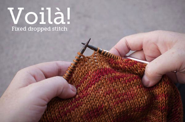 Knitting Fix Loose Stitches : How-To: Fix Dropped Stitches in Knitting Make: