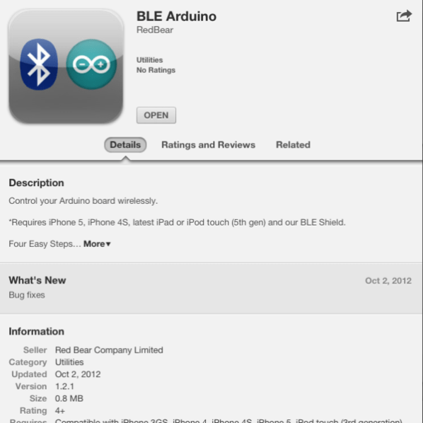 BLE in App Store