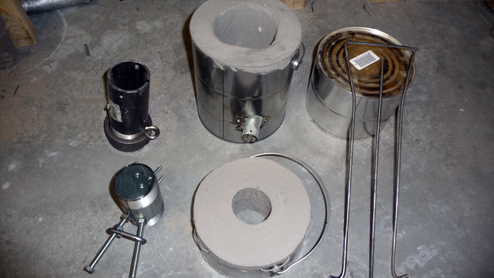 Paint Can Furnace With Accessories Lost Foam Casting And