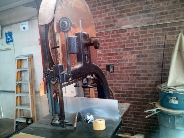 This might be the oldest tool in the shop: a vintage Paddock Tool bandsaw
