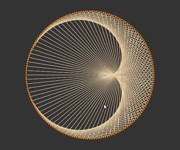 Make String Art Designs : Beginning of a string make