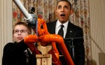 President Obama and Joey Hudy at the White House Science Fair.