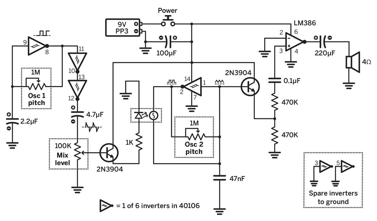 electronic snap circuit
