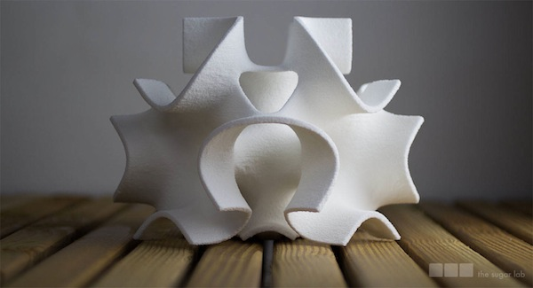 A 3D-printed confection from The Sugar Lab