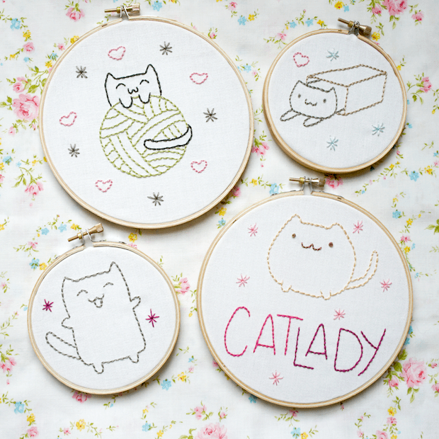 thepinksamurai_cat_lady_embroidery_patterns_01