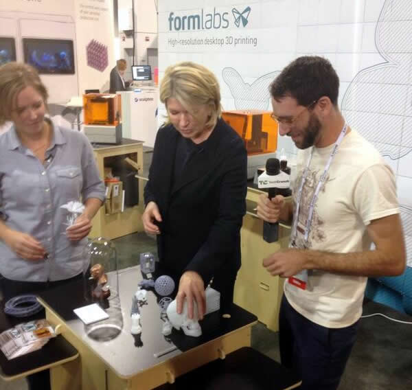 Martha Stewart checks out the Form1 at CES2014 image via @larry_jamieson's twitter feed.