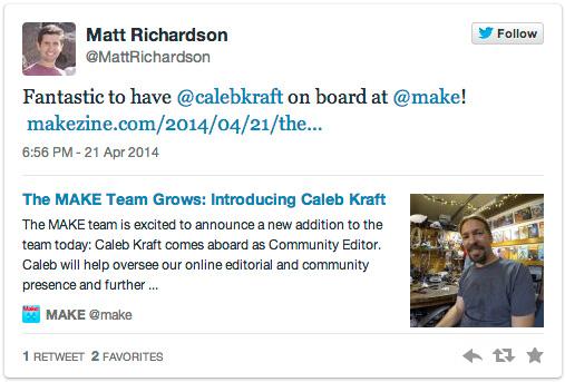 Matt Richardson on Twitter