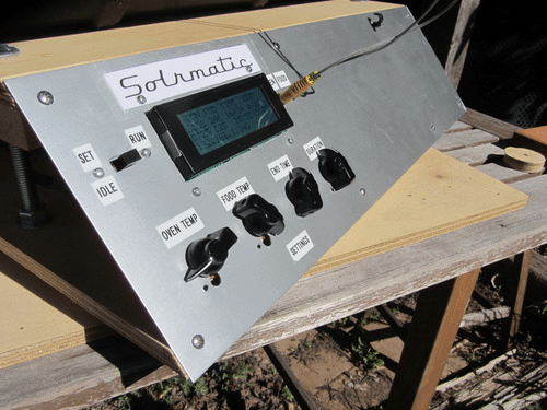 Solrmatic faceplate with LCD and controls