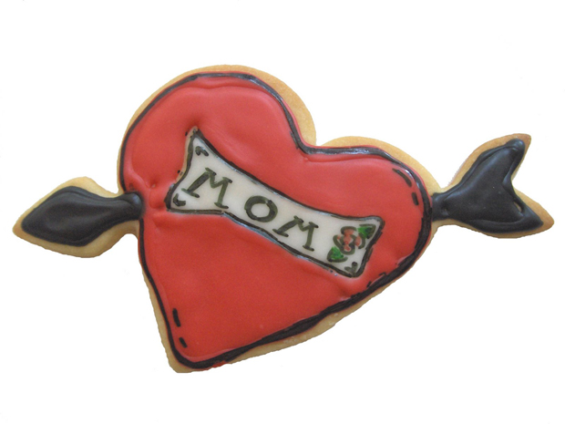 Mom Tattoo Cookies