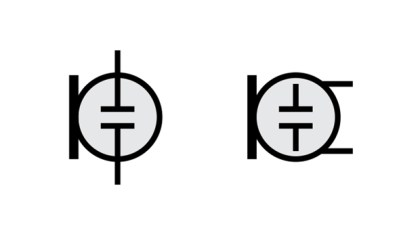Alternate schematic symbols for an electret microphone.