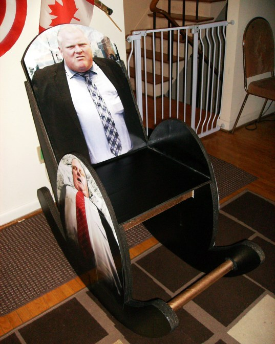 The one-of-a-kind Rob Ford Rocking Chair