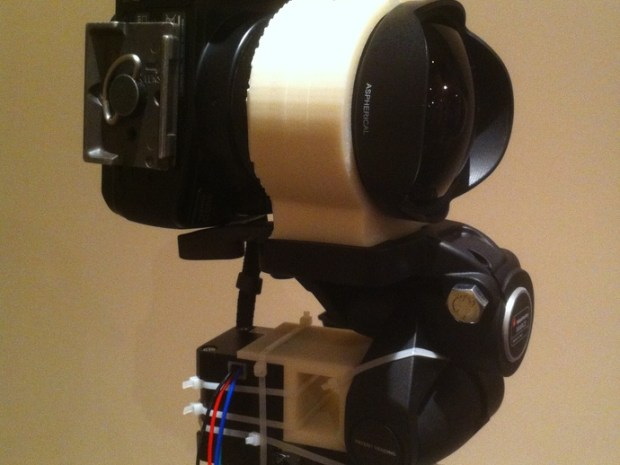 An easy-ish conversion for the Manfrotto 3-way head to streamline taking of spherical panoramas.  About 170 degrees vertical fov with samyang 8mm (corner to corner) See it in action:  http://youtu.be/m-kqBCw5f4w  http://youtu.be/QM9lXYVwHF0  http://youtu.be/dYxgKii06uE