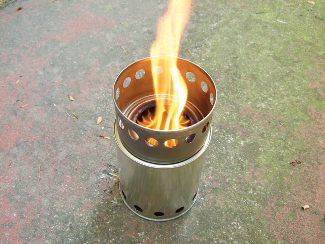 Construct an Upcycled Wood Gas Camp Stove  Make: